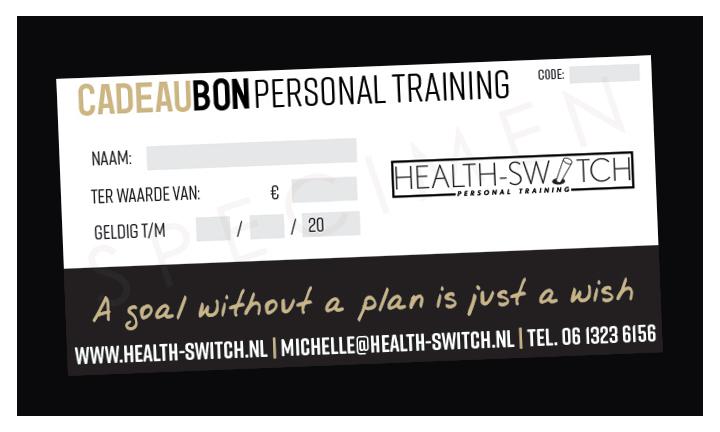 Cadeaubon personal training